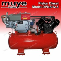 Best-selling OEM strong power and pressure 4 Cylinder 2 stage diesel piston air compressor