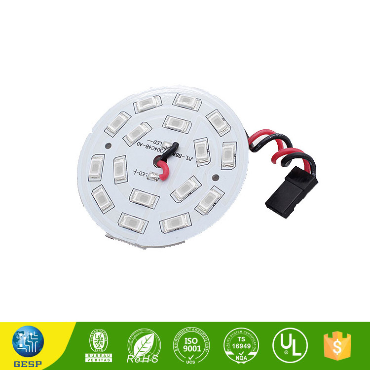 China high quality round high power led light pcb board