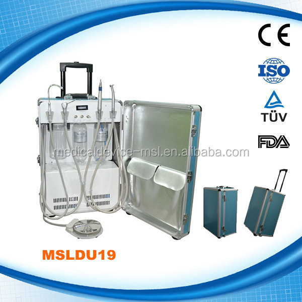China Manufacturers Portable Dental Unit with Air compressor,Portable Dental Chair (MSLDU19-G)