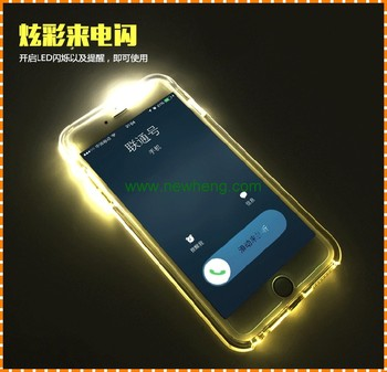 premium selection 3fa68 61df1 New Arrival Led Incoming Call Flash Light Luminous Tpu+pc Transparent Phone  Case For Iphone 6 - Buy Led Flash Call Tpu Case For Iphone 6s,Clear Tpu Pc  ...