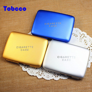 China Wholesale Custom Multifunctional Cigarette Box Aluminum Automatic Cigarette Holder Cover with Lighter