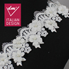 High quality 6.5cm hand beaded embroidery lace for wedding dresses