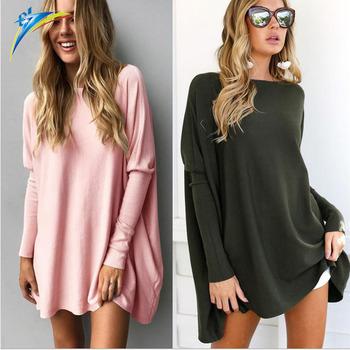 4b765dcabb3f31 2017 casual autumn winter women blouse tops long sleeve loose ladies long  tops blouse