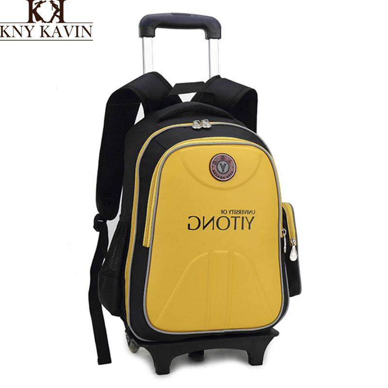 5 Color Fashion Detachable Children Trolley Backpack Mesh Sponge Strap Design School Bag Adjustable Alloy Rod Kids Backpacks