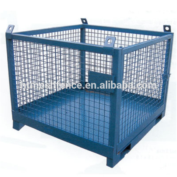 Galvanized Powder Coating Metal Pallet Cages For Small