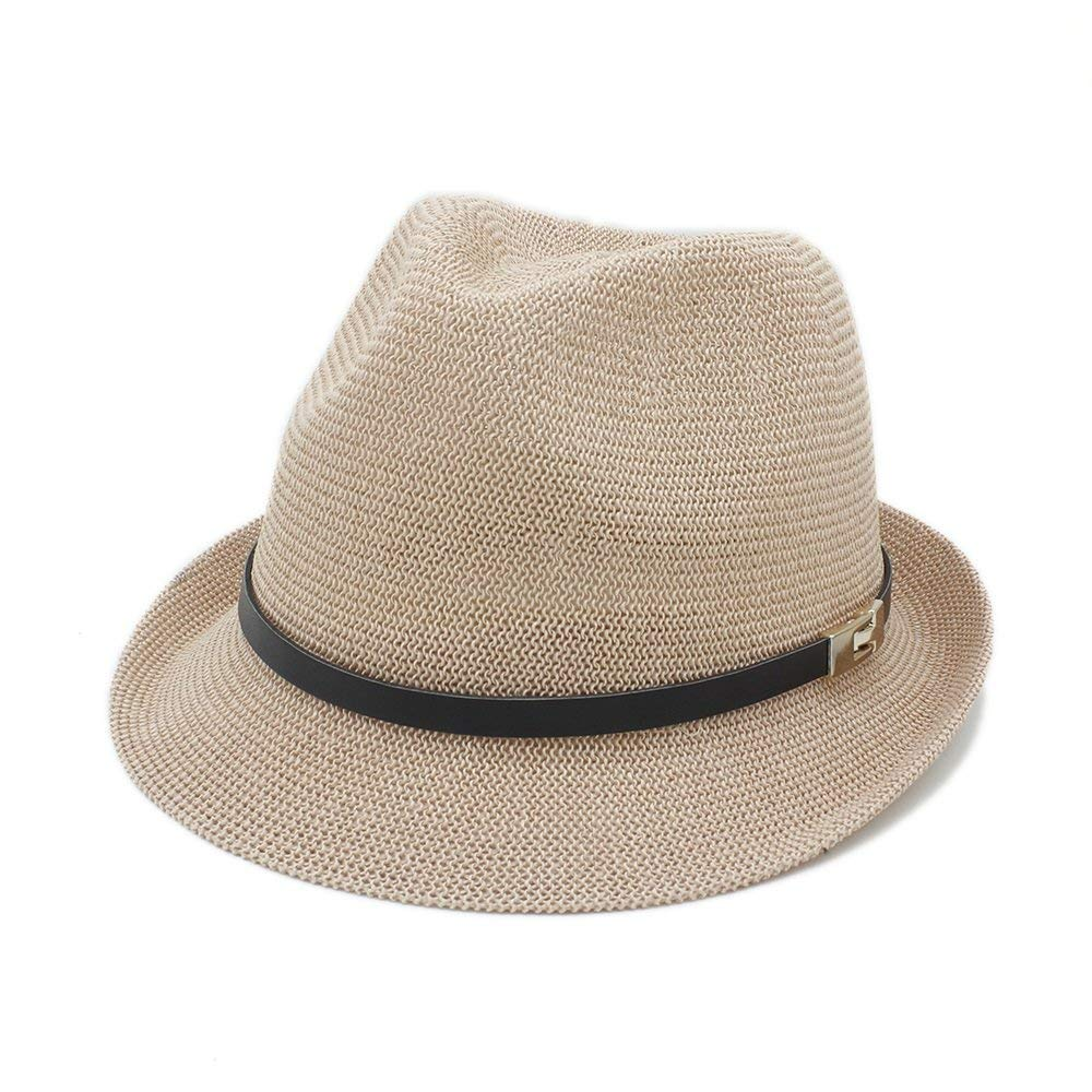b8064c56 Get Quotations · HHF Hats & Caps For Gentleman Letter Dad Boater Fedora Hats  Dad Flat Homburg Beach Hat