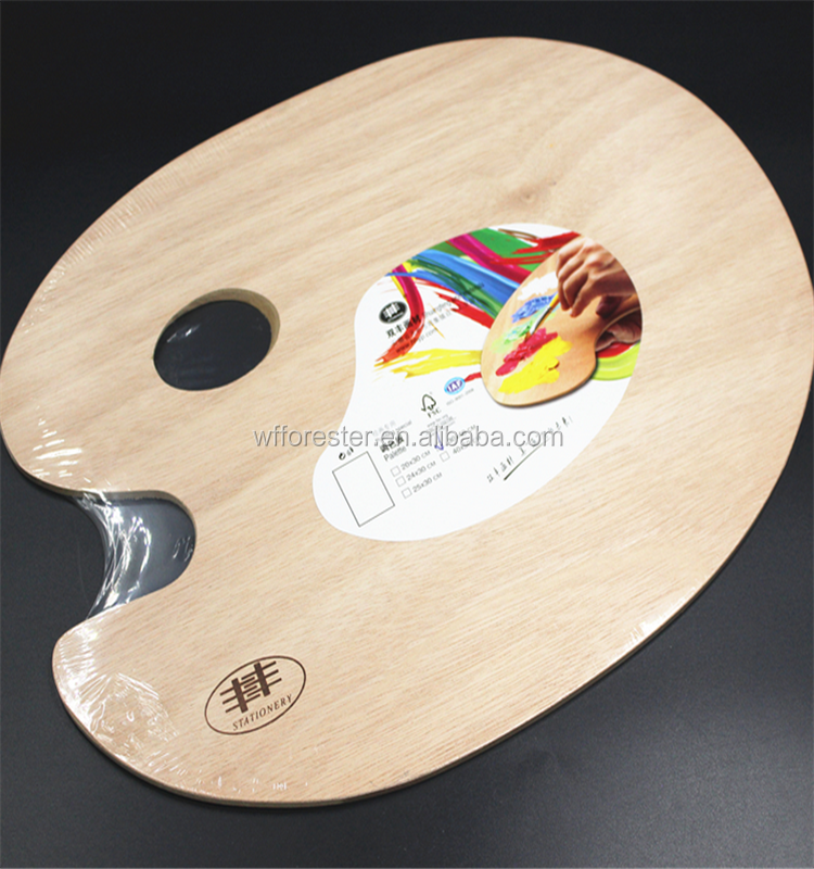 wholesale oval MDF wooden palette
