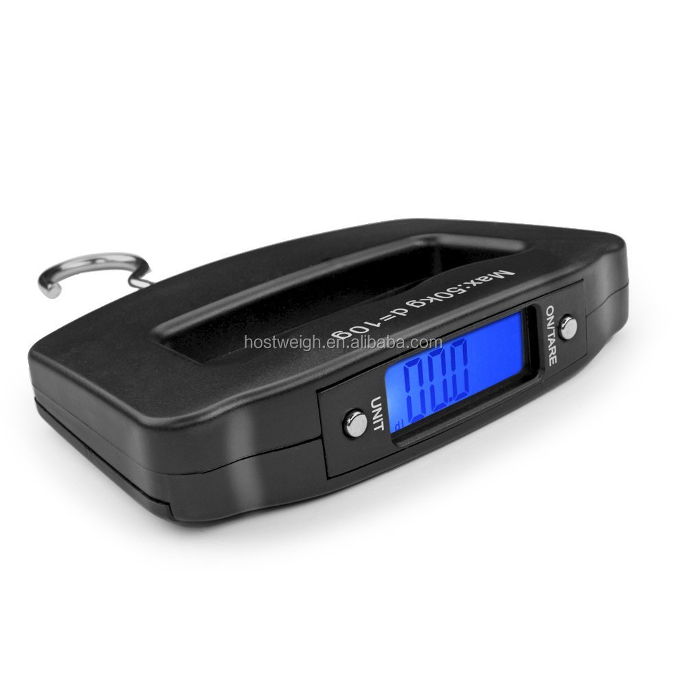 50kg/110lb 10g Digital Electronic Luggage Portable Suitcase Scale Handled  and Travel Bag Weighting Fish Hook Hanging Scale
