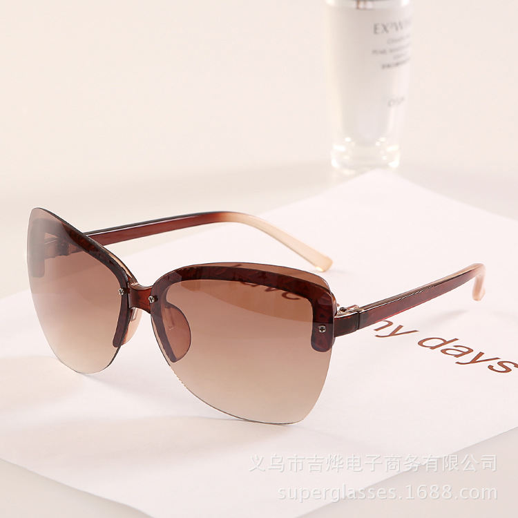Luxury New 2015 Vintage Women Sunglasses Hot Selling No frame lade sunglasses Elegant Glasses oculos de sol J146 original BR