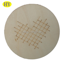 Simple Blank Cheap Plywood Wooden Coaster Wholesale