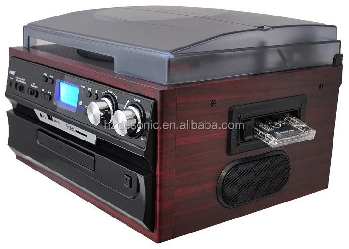DESONIC MULTI AUDIO CD USB TURNTABLE WITH ENCODING CASSETTE RADIO AND EXTERNAL SPEAKERS