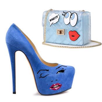 Modern New Design Fabulous Pu Suede Nude Blue High Heeled Platform Wedding Shoes Buy Blue Suede Ladies High Heel Shoes Nude Platform Shoes New