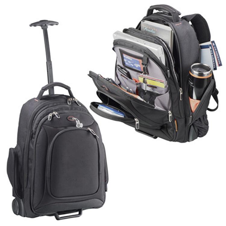 Waterproof Briefcase Rolling Laptop Bag Rolling Computer Backpack ...