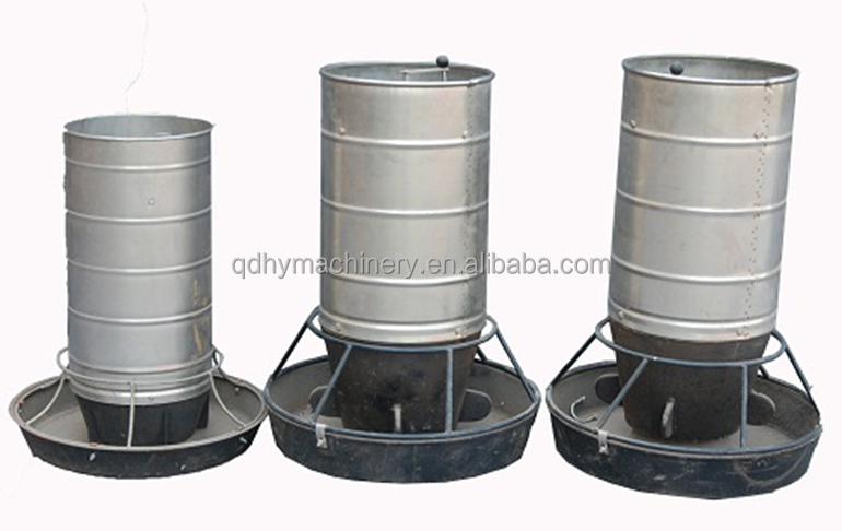 Stainless steel silo pig feeder view