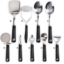 2018 Kitchen gadgets set 9 piece premium stainless steel cooking dining utensils
