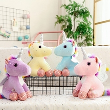 Commercio all'ingrosso di <span class=keywords><strong>Animali</strong></span> di <span class=keywords><strong>Peluche</strong></span> Grandi Occhi Morbido Mini Unicorn <span class=keywords><strong>Farcito</strong></span> Giocattolo