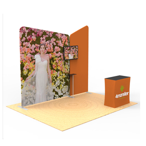Aluminium advertising frames fabric wall exhibition stall design and fabrication