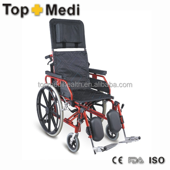 Detachable headrest and armrest aluminum reclining luxury Luxury wheelchairs