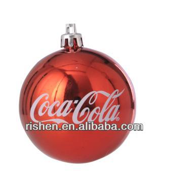 2013 red Coco Cola christmas 6cm hanging ball