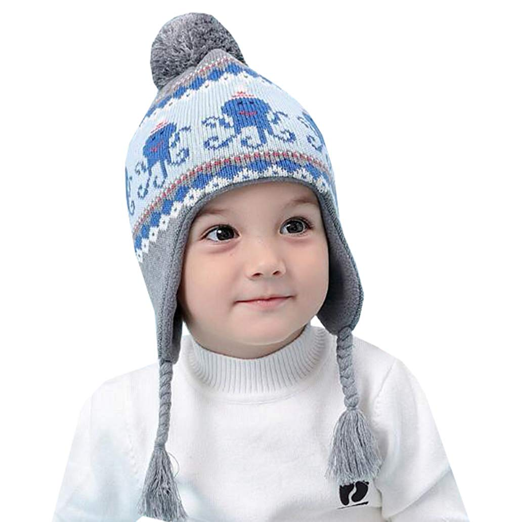 5046064db72 Get Quotations · UQ 2018 New Baby Girl Boys Winter Hats Kid Girl Knitted Cap  (6month-