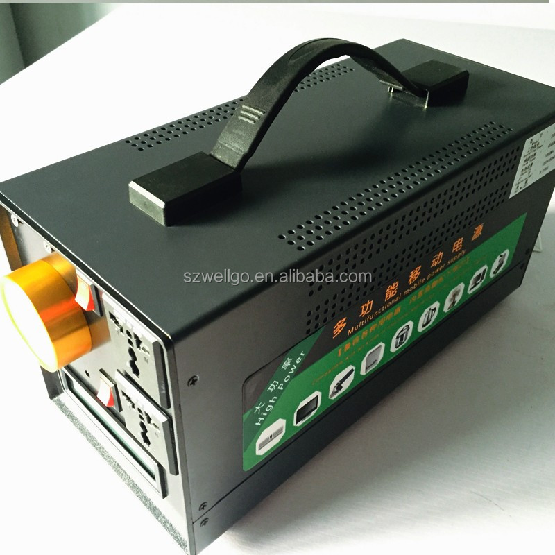 Portable Outdoor Home Off-grid Storage Power supply 220v 110V 900W UPS Battery Power system Generator Emergency Lighting