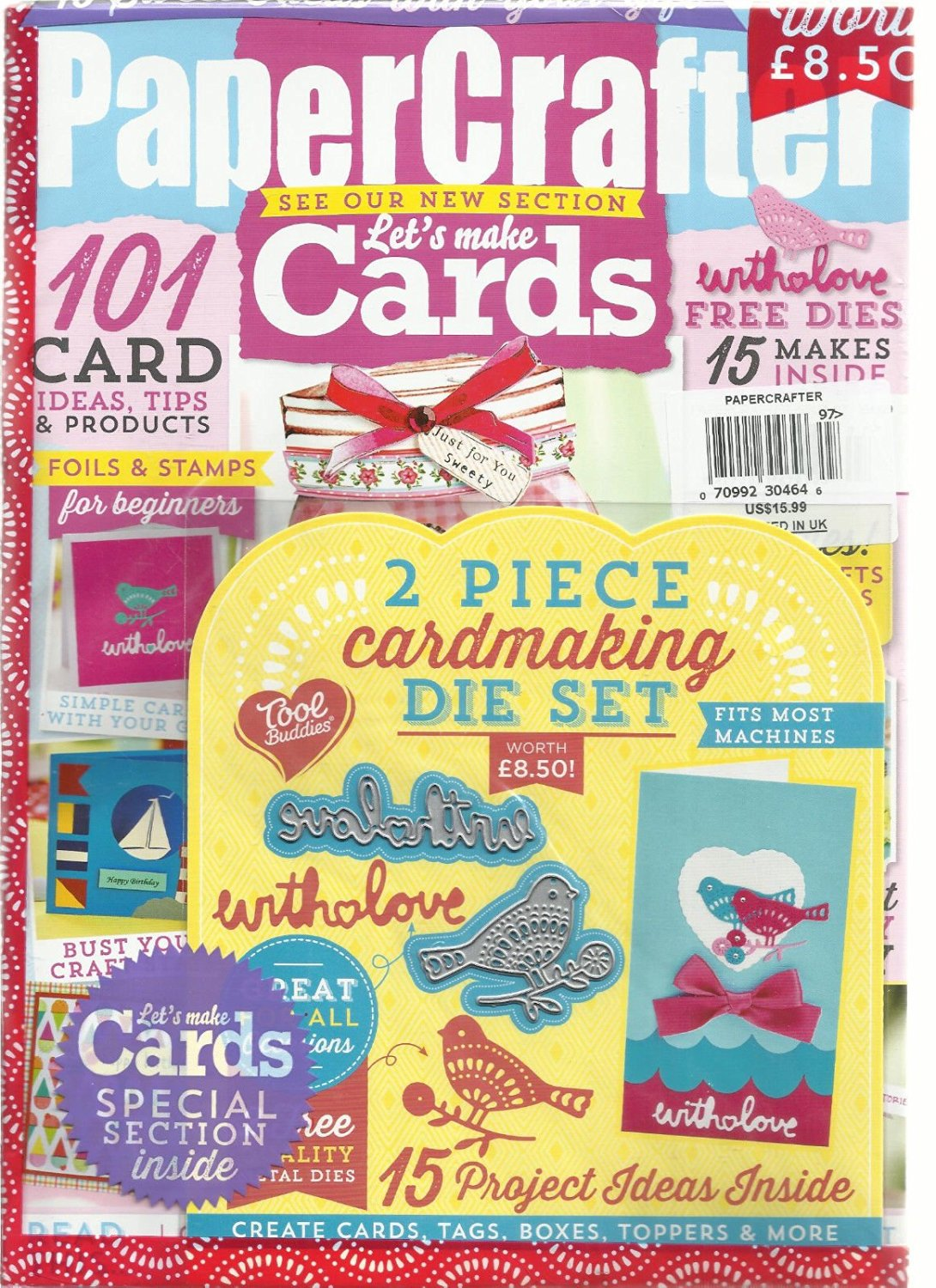 PAPER CRAFTER MAGAZINE, SEE OUR NEW SECTION LET'S MAKE CARDS ISSUE, 2016