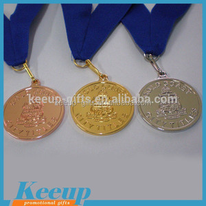 Round Brass Bronze Gold Embossed Sport Medals and Trophys