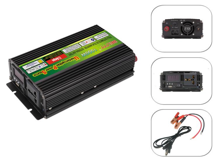 Преобразователь BELTTT от 12 В до 220 В, 1000 Вт постоянного тока, преобразователь переменного тока с ЖК-дисплеем dis play