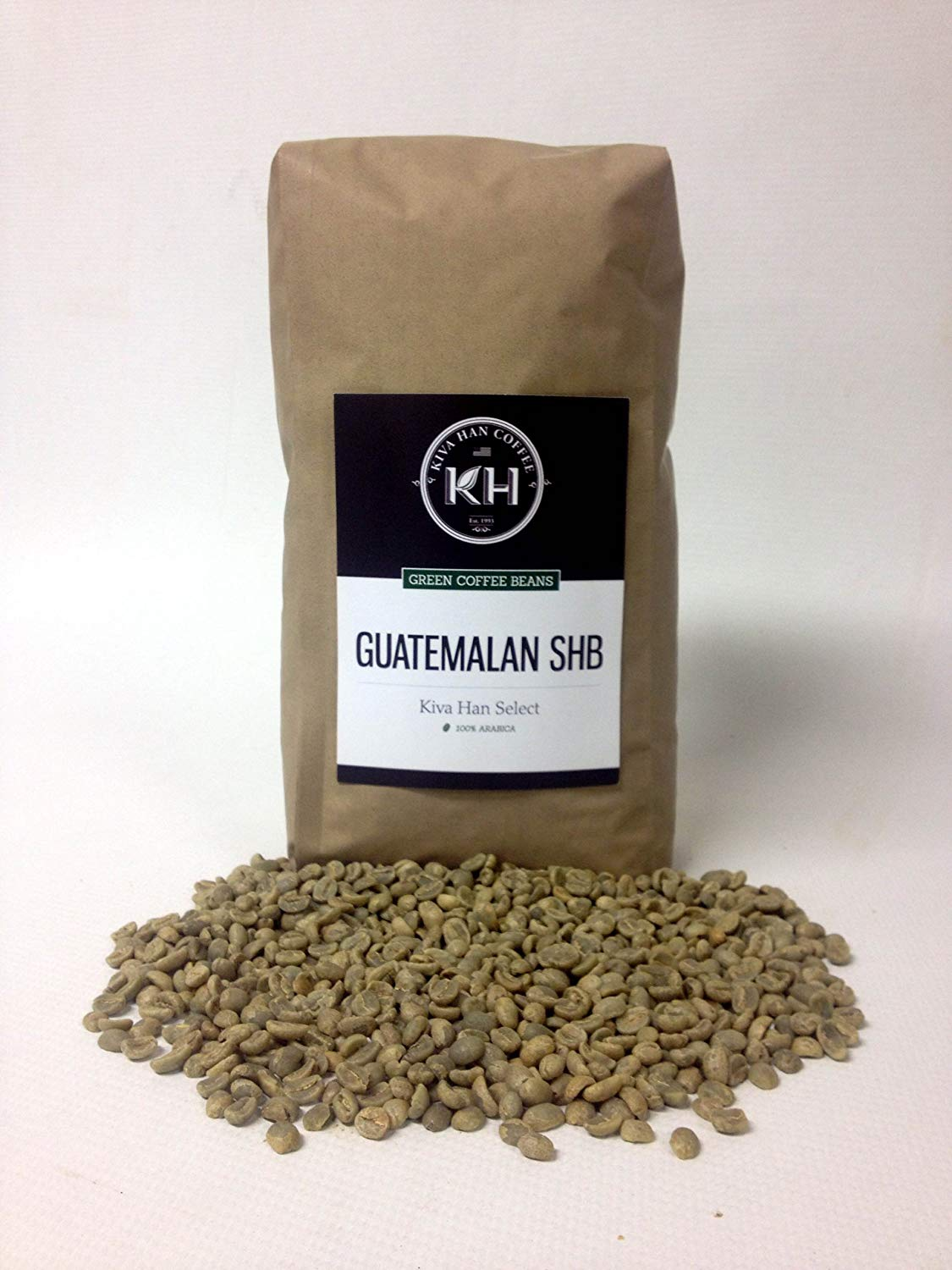 Guatemalan SHB Green Unroasted Coffee Beans, 5 Lb Bag