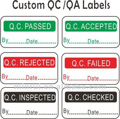 Qc Passed Stickers,Printable Adhesive Vinyl Label - Buy Printable ...