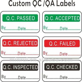Qc Passed Stickers Printable Adhesive Vinyl Label Buy