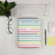New Multiple Colors Loose-leaf 3 Ring Binder Notebook Inner Pocket PU Leather Travel Notebook