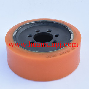 BT PU Coated Motor Drive Wheels with 7 holes