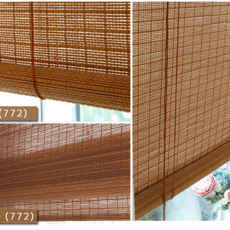 Natural Material Handmade Sun Shade Bamboo Roller Blinds