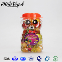 100pcs fruit jelly fruiy royal jelly candy in big animal shape jar