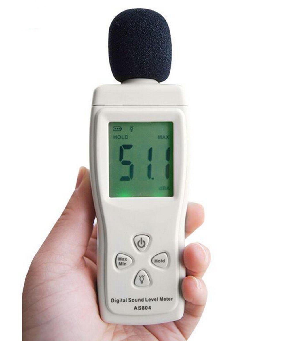 Digital Decibel Sound Level Meter Tester for Indoor/ Outdoor Uses Sound Pressure Level 30 to 130dBA AS804