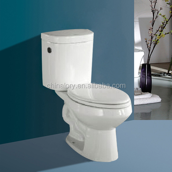 Factory Direct With Cheap Price Square Seat Cover Two Piece Ceramic Toilet