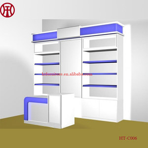 Factory low price retail mall cosmetic shelf