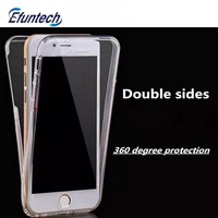 360 double sides protected transparent soft TPU mobile phone case for iphone 6s plus
