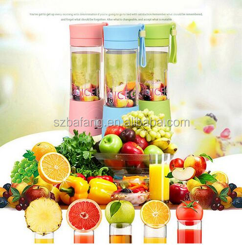 3 Colors 380ml USB Electric Fruit Juicer Handheld Smoothie Maker Blender Rechargeable Mini Portable Juice Cup Water Bottle