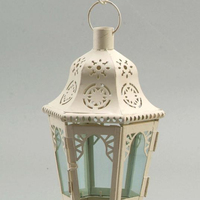 Colorful hanging moroccan metal glass candle lanterns home decoration wedding lanterns