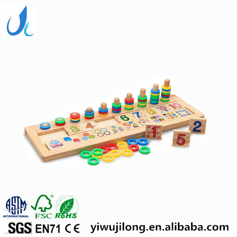 montessori math teaching rainbow donuts toys logarithmic plate children's cognitive wooden toys