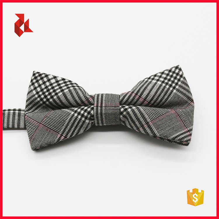 Fashion Men's Checked 100% Cotton Bow Ties Sets