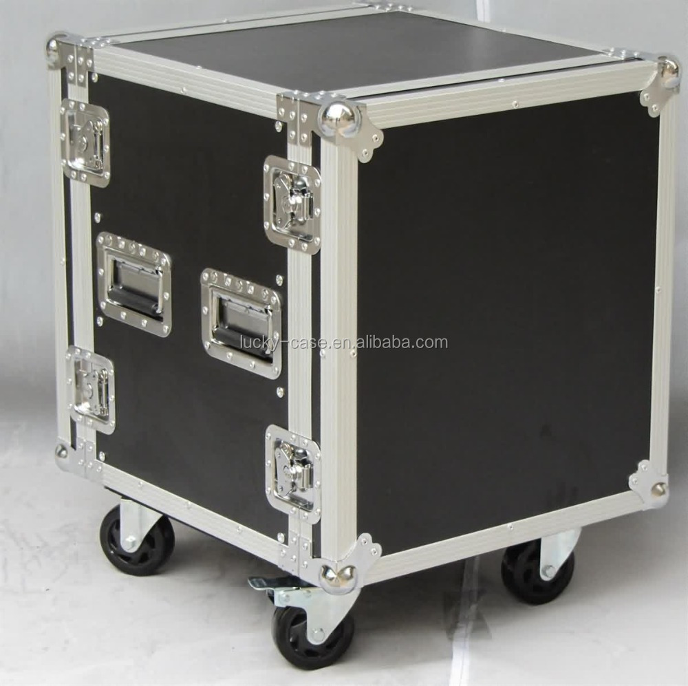 10U Pro DJ ATA Amp Rack Flight Road Travel Case - 18inch body depth