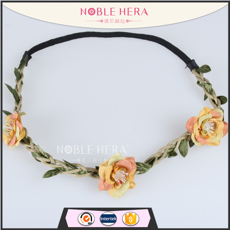 Noble Hera 502A09BGS Vintage Flower Bohemia Stylish Holiday Adult Headband
