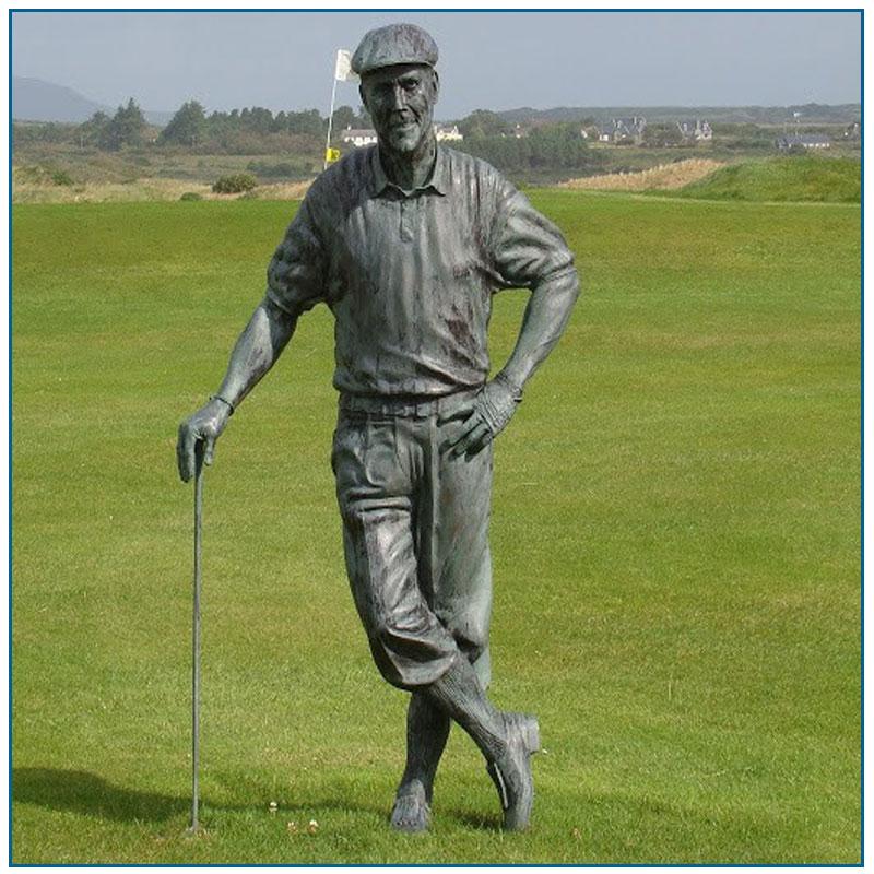 Life Size Bronze Golfer Statue For Garden Decoration
