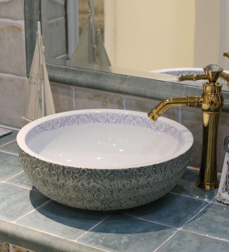 Creative Bathroom Vanities Pedestal Gl Bowl Vessel Sink Combo W Faucet Set