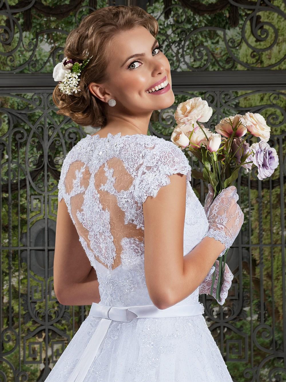 2fc4d3023 V03 sexy profundo cuello en V vestidos de boda nupciales 2016 equipada  blusa Tren de la