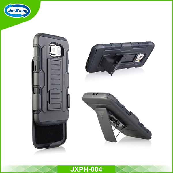 Heavy duty rubber silicone belt clip case for Samsung galaxy s6