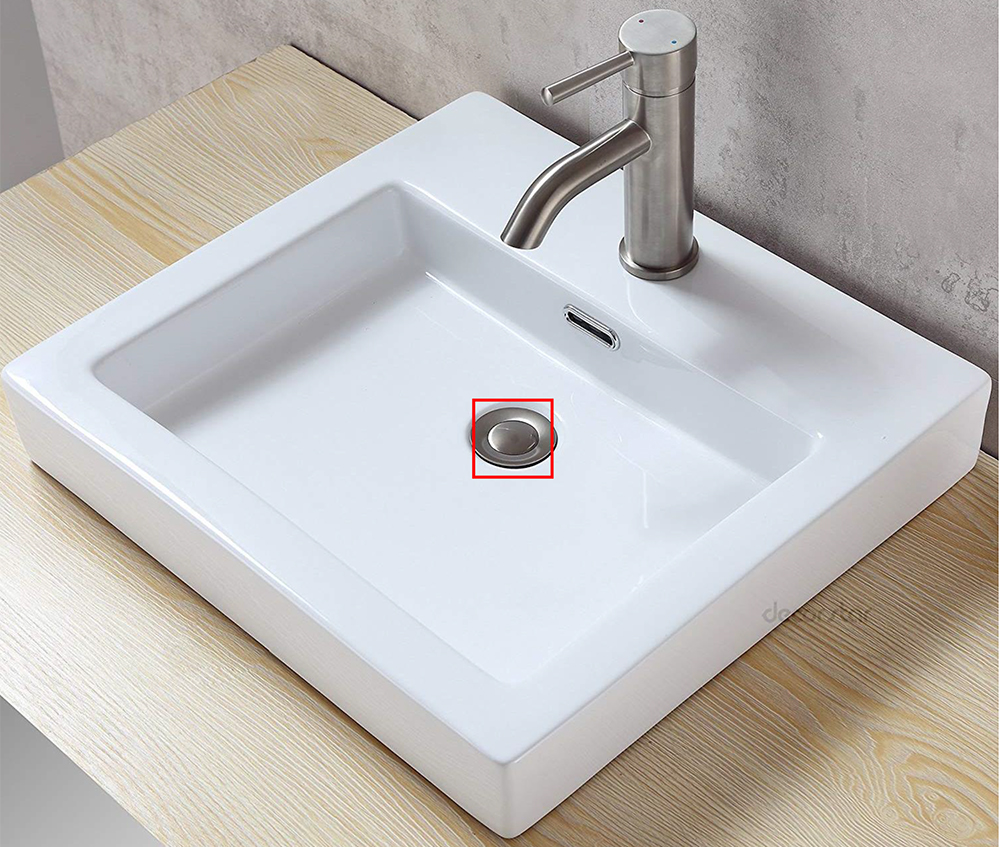 bathroom basin basket  pop up waste stopper